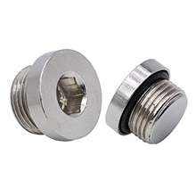 SPHM Internal Hex Male Plug Brass Pipe Fitting with O-ring